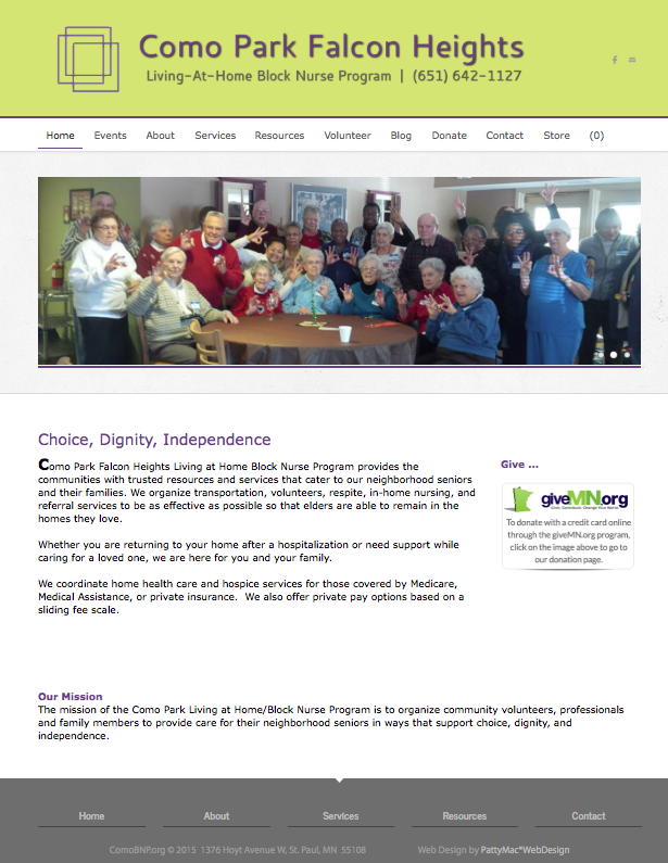 Como Park Falcon Heights BNP Helps Seniors Stay At Home Weebly Site